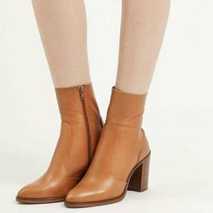 "Topshop Magnificent Leather ""sock"" ankle Boot 37"